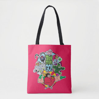 Teen Titans Go! | Team Group Graphic Tote Bag