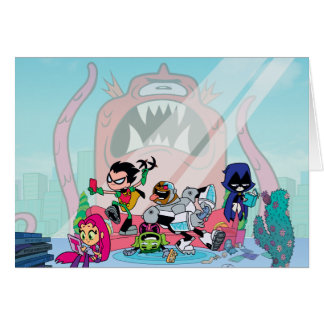 Teen Titans Go! | Tentacled Monster Approaches Card