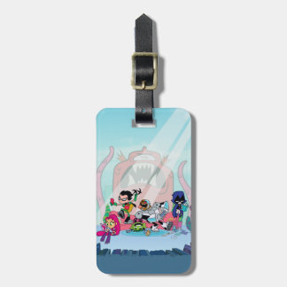 Teen Titans Go! | Tentacled Monster Approaches Luggage Tag