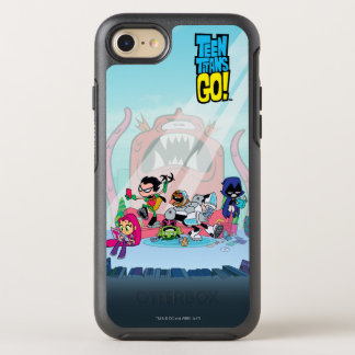 Teen Titans Go! | Tentacled Monster Approaches OtterBox Symmetry iPhone 8/7 Case