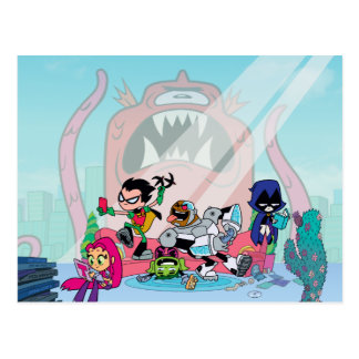 Teen Titans Go! | Tentacled Monster Approaches Postcard