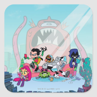 Teen Titans Go! | Tentacled Monster Approaches Square Sticker