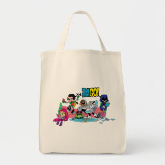 Teen Titans Go! | Tentacled Monster Approaches Tote Bag
