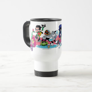 Teen Titans Go! | Tentacled Monster Approaches Travel Mug