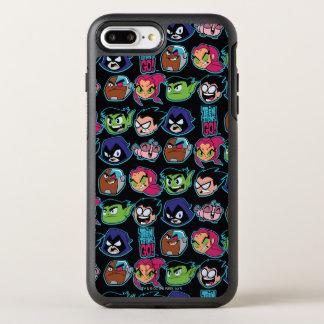 Teen Titans Go! | Titans Head Pattern OtterBox Symmetry iPhone 8 Plus/7 Plus Case