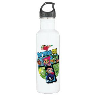 Teen Titans Go! | Titans Tower Collage 710 Ml Water Bottle