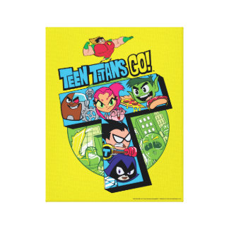 Teen Titans Go! | Titans Tower Collage Canvas Print