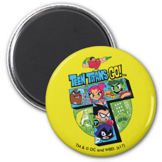 Teen Titans Go! | Titans Tower Collage Magnet