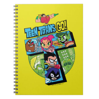 Teen Titans Go! | Titans Tower Collage Notebooks