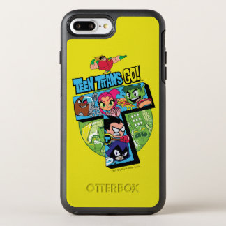 Teen Titans Go! | Titans Tower Collage OtterBox Symmetry iPhone 8 Plus/7 Plus Case