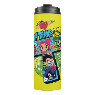 Teen Titans Go! | Titans Tower Collage Thermal Tumbler