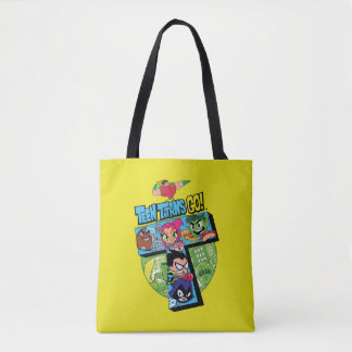 Teen Titans Go! | Titans Tower Collage Tote Bag