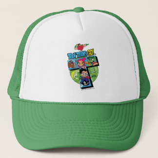 Teen Titans Go! | Titans Tower Collage Trucker Hat