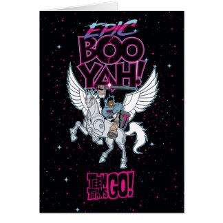 Teen Titans Go! | Warrior Cyborg Riding Pegasus Card