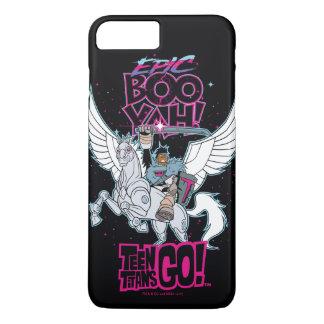 Teen Titans Go! | Warrior Cyborg Riding Pegasus iPhone 8 Plus/7 Plus Case