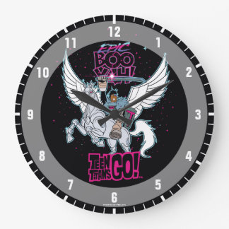 Teen Titans Go! | Warrior Cyborg Riding Pegasus Large Clock