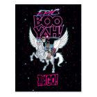 Teen Titans Go!   Warrior Cyborg Riding Pegasus Postcard