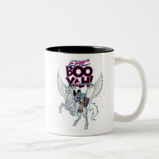 Teen Titans Go! | Warrior Cyborg Riding Pegasus Two-Tone Coffee Mug