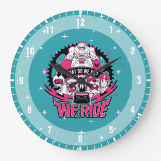 "Teen Titans Go! | ""We Ride"" Retro Moto Graphic Large Clock"