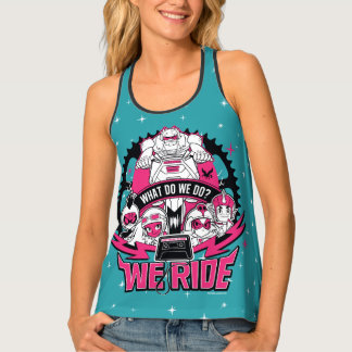 "Teen Titans Go! | ""We Ride"" Retro Moto Graphic Tank Top"