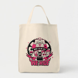 "Teen Titans Go! | ""We Ride"" Retro Moto Graphic Tote Bag"