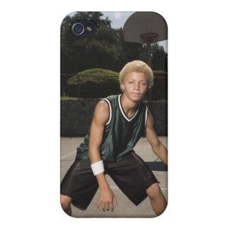 Teenage boy on basketball court iPhone 4/4S case