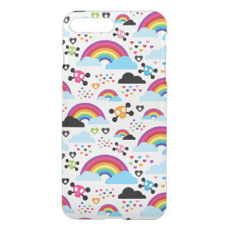 Teenage emo rainbow skull background iPhone 8 plus/7 plus case