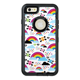 Teenage emo rainbow skull background OtterBox iPhone 6/6s plus case