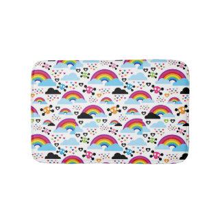 Teenage emo rainbow skull background bath mats