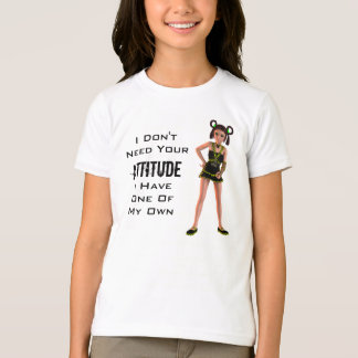 Teenage Girl Attitude 3D Anime Character Punk Goth T-Shirt