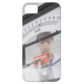 Teenage girl by science equipment case for the iPhone 5
