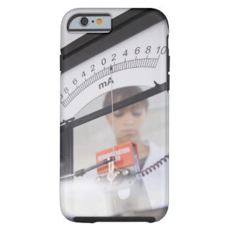 Teenage girl by science equipment tough iPhone 6 case