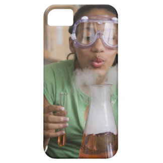 Teenage girl performing science experiment barely there iPhone 5 case