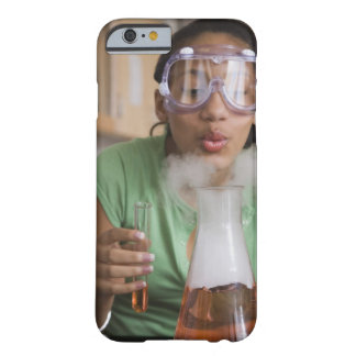Teenage girl performing science experiment barely there iPhone 6 case