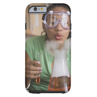 Teenage girl performing science experiment tough iPhone 6 case