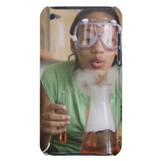 Teenage girl performing science experiment Case-Mate iPod touch case