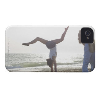 Teenage girl performs gymnastic feat, mom iPhone 4 covers