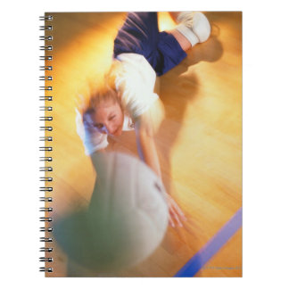 Teenage Girl Playing Volleyball Notebook