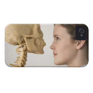 Teenage girl with skeleton iPhone 4 Case-Mate cases