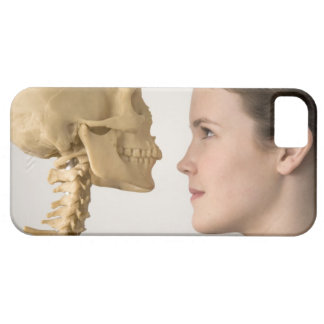 Teenage girl with skeleton iPhone 5 cases