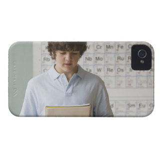 Teenaged boy giving speech in science class iPhone 4 covers