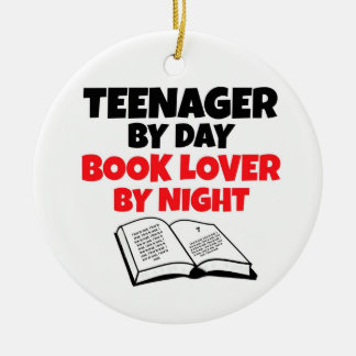 Teenager by Day Book Lover by Night Christmas Ornament