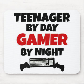 Teenager by Day Gamer by Night Mouse Mat