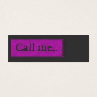 Teenager Call me Card