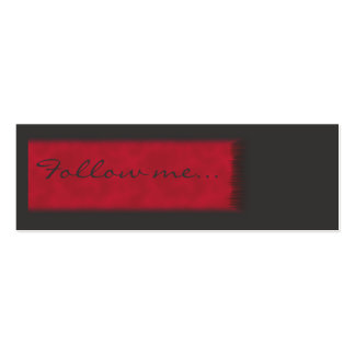Teenager Follow me Card Pack Of Skinny Business Cards