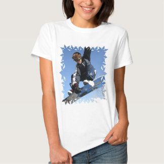 Teenager Snowboarding Ladies T-Shirt