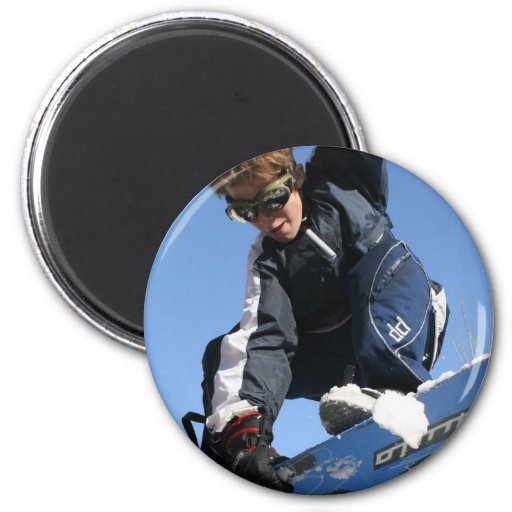 Teenager Snowboarding Magnet Fridge Magnets