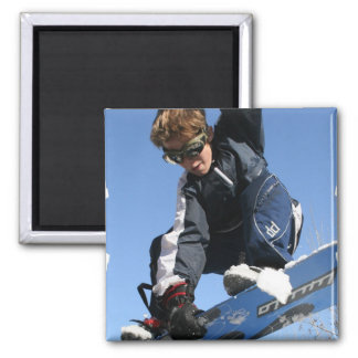 Teenager Snowboarding Magnet Fridge Magnet