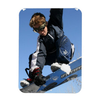 Teenager Snowboarding Premium Magnet Magnet