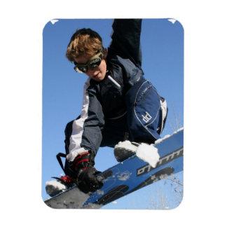 Teenager Snowboarding Premium Magnet